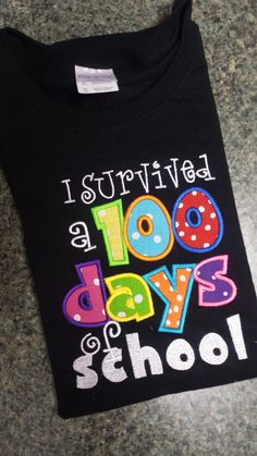 Boutique Custom Personalized Girls Boys I Survived 100 Day of School Shirt by littlehunnypotdesign on Etsy https://www.etsy.com/listing/223275133/boutique-custom-personalized-girls-boys