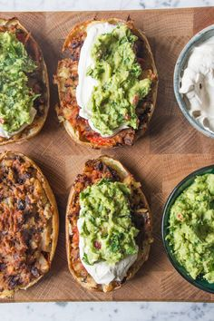 Loaded Mexican-Style Potato Skins (Deliciously Ella) Loaded Mexican-Style Potato Skins Source by amiluu Veggie Recipes, Mexican Food Recipes, Whole Food Recipes, Vegetarian Recipes, Cooking Recipes, Healthy Recipes, Protein Recipes, Vegetarian Cooking, Healthy Sweets