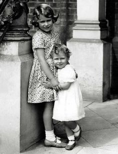 Princesses: Elizabeth and Margaret, daughters of the Duke and Duchess of York (the future King George VI and Queen Elizabeth).