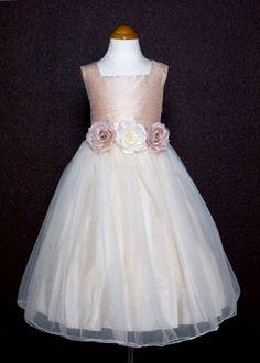 fb5487770fc D. Rose Dupioni Silk Flower Girl Dress Cheap Dresses