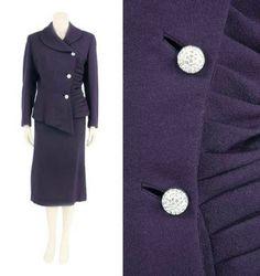 Lilli Ann Navy Wool Crepe Suit American, 1950s