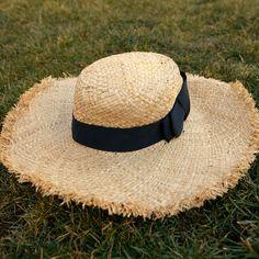 "#missadventure season 2, episode 1, ""the perfect weekend"" featuring the flat top raffia sun hat."