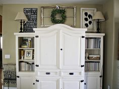 Idea for decorating the top of the entertainment center