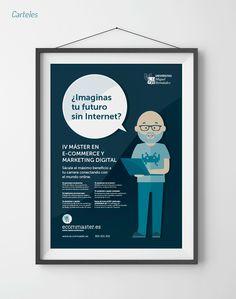 HOY ES EL DÍA :: Diseño de carteles segmentados para Ecommaster #diseño #design #poster #cartel #illustration #ilustracion