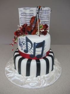 1000 Images About Violin And Other Music Theme Cakes On Pinterest