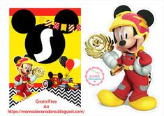 Mamá Decoradora: Kit Imprimible Mickey Sobre Ruedas Gratis Mickey Mouse Parties, Minnie Mouse, Mikey, Minion Party, Paw Patrol, Party Themes, Safari, Banner, Disney Characters