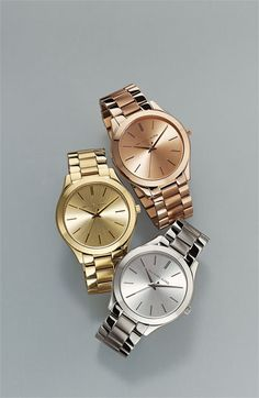 Michael Kors 'Slim Runway' Bracelet Watch | Nordstrom GOLD