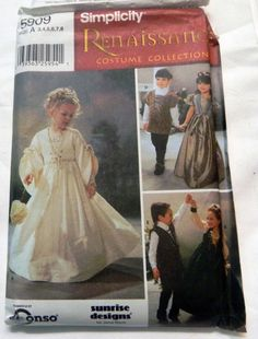 Children's Renaissance Costume Dress and by retroactivefuture