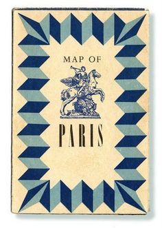 Ephemera | Paris street map.