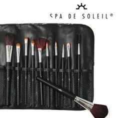 Spa De Soleil Signature 12 Piece Professional Makeup Brush Set with Pouch $16.00