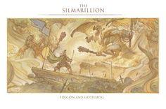 The Silmarillion - Fingon and Gothmog (by Justin Gerard)