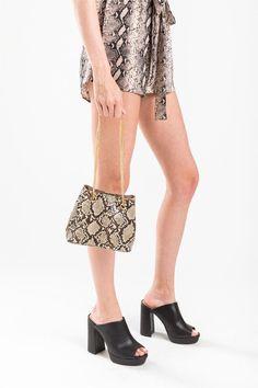Erin Snake Print Bucket Handbag Bucket Handbags, Snake Print, Graphic Tees, Fashion, Moda, Fashion Styles, Fashion Illustrations, Graphic T Shirts