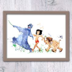 The Jungle Book art print Jungle Book watercolor by ColorfulPoster