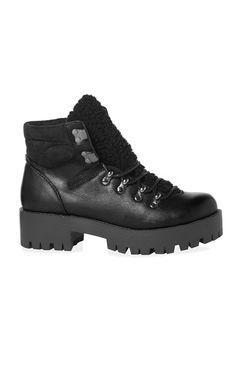 Botas de caminhada fashion preto