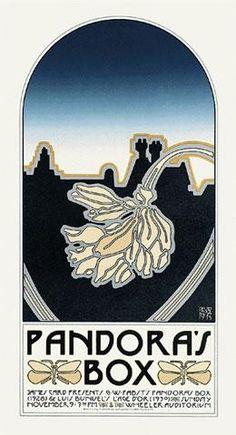 Pandora's Box Movie Poster by David Lance Goines