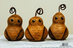 Hand Painted Owl Gourds – from Treasured Country Gifts