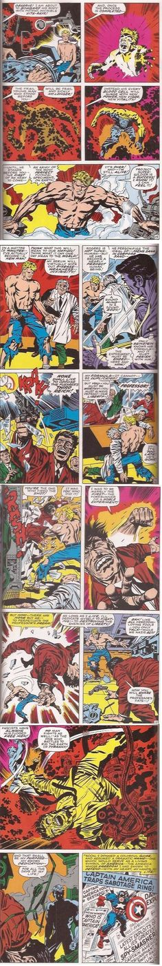 A reboot of Captain America's origin in January 1969 #109. Rather than becoming powerful through an injection, Rogers is exposed to Vita-Rays. Kirby's artwork has also changed considerably since the '40s.