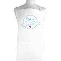 Personalised Baked with Love Apron http://www.wedding-giftsonline.co.uk/baked-with-love-apron-3919-p.asp