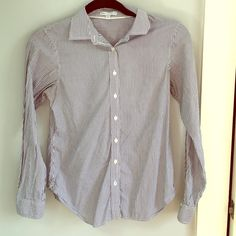 Gap Striped Oxford Button Up Shirt Softly worn blue and white striped Oxford shirt from Gap! In great condition. Price negotiable. GAP Tops Button Down Shirts
