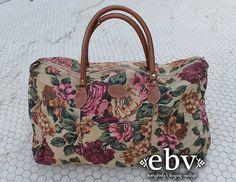 Vintage 80s Gitano Floral Canvas Weekender Bag by shopEBV on Etsy, $48.00