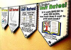 FREE Unit Rates math pennant