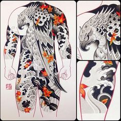 Finished up this back colour study last night. Thinking about doing a small print run of these so if you're interested, DM or email. Japanese Tatoo, Japanese Sleeve Tattoos, Japanese Art, Asian Tattoos, Japan Tattoo, Irezumi Tattoos, Tattoo Script, Japan Fashion, Tattoo Shop
