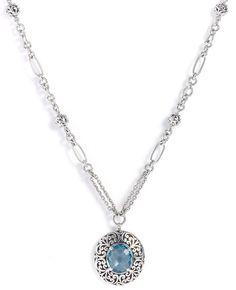 Sky Blue Topaz Necklace - $468