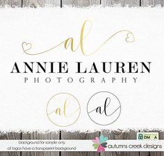 premade logo photography logo logo designs heart by autumnscreek