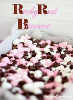 Vegan Desserts, Dessert Recipes, Rocky Road Brownies, Finnish Recipes, Cake Bars, Sweet Pie, Something Sweet, Chocolate Recipes, No Bake Cake