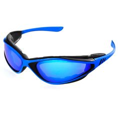 Polycarbonate lens offers 100-percent UV protection on this foam sport wrap. Foam protects eyes from wind and dust, while side temples are removable, offering more air ventilation if needed.