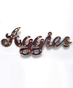 AGGIE SIGN WITH LIGHTS #AggieHome #AggieStyle #AggieGifts