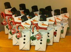 Envelope punch board snowmen