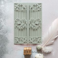 birdcage_silver_laser_cut_blank_invitation_diy_wedding