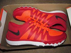 Nike Free Trainer 5.0 V6 Mens Training Shoes 10 Gym Red Crimson 719922 616 #Nike #RunningCrossTraining