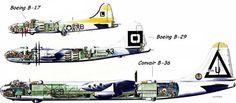 B-17 B-29 B-36
