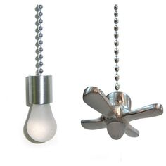 Hunter Ceiling Fan Pull Chain Switch Impressive Fan & Light Ceiling Pull Chain Set Of 2 Pull Chains  Ceiling Fan Design Decoration
