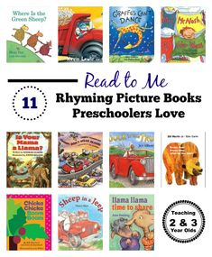 Rhyming Books for Young Children - 11 Favorites! From Teaching 2 and 3 Year Olds