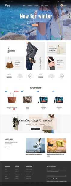 Mymy is clean and modern design 5in1 responsive Prestashop #template for stunning #bags and accessories #shopping eCommerce website to live preview & download click on Visit