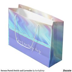 Serene Pastel Swirls and Lavender Large Gift Bag