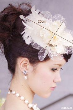 ウェディング用のハット(帽子)を制作しています。ドレスや花嫁様のご希望に合わせてお作り致します。