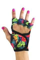G-Loves Australia - Hawaiian Dreams Workout Gloves with multi-coloured | gym gloves, weightlifting, Australia, women, g-loves, cycling, running workout, bodybuilding gloves.