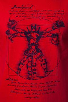 Vitruvian Deadpool Shirt