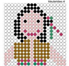 indiaan kralenplank voor kleuters, kleuteridee.nl, beads pattern preschool, free printable