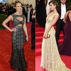 Jessica Alba at the 2013 and 2014 Met Gala