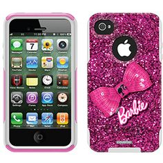 Barbie - Glitter Bow Barbie design on OtterBox® Commuter Series® Case for iPhone 4 / 4S in Black  $47.95