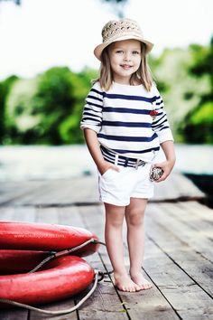 .Cute little outfit for a sailor girl