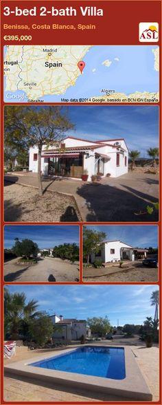 3-bed 2-bath Villa in Benissa, Costa Blanca, Spain ►€395,000 #PropertyForSaleInSpain