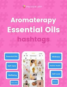 Are you ready to get the most beautiful Instagram hashtags for aromatherapy and essential oils? Let's talk about hashtag strategy. I am going to share Instagram hashtags for aromatherapy and essential oils, as well as other hashtags you can use. All of the hashtags are in Preview App. I am manually researching and selecting the best ones to help you grow and connect with the right communities. #instagramtips #instagramstrategy #instagrammarketing #socialmedia #socialmediatips Best Instagram Hashtags, Instagram Marketing Tips, Instagram Tips, Essential Oil Blends, Essential Oils, Massage Therapy, Health And Wellbeing, Stress And Anxiety, Massage
