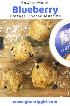 These simple and healthy cottage cheese muffins are the perfect treat for breakfast or any time! Low Fat Snacks, Healthy Snacks To Make, Healthy Recipes, Healthy Drinks, Drink Recipes, Healthy Eats, Yummy Recipes, World's Best Food, Recipes