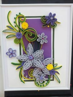 Quilling frame Tablou cu flori quilling
